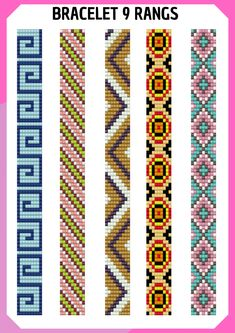 I wanted to exhibit you steps to make a bracelet with natural stone and leather thread with video. Loom Bracelet Patterns, Bead Loom Bracelets, Bead Loom Patterns, Woven Bracelets, Beaded Jewelry Patterns, Peyote Patterns, Beading Patterns, Seed Bead Art, Motifs Perler