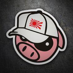 Pegatinas: Pig Cap JDM #coche #pegatina #sticker