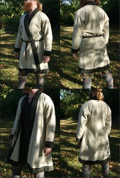 Hand sewn woolen kaftan (vendel era). By Henrik Nordholm.