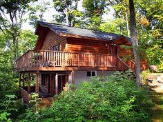 Lakefront log cottage on St. Joseph Island, Ontario