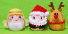 Crochet Egg Cozy Egg Warmer Christmas Angels by DarmianiDesign