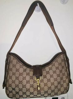 c2f0c8a65f3f PRE-OWNED GUCCI GG JACKIE SHOULDER TOTE CANVAS LEATHER BAG