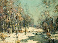 """""""February Sunlight,"""" John F. Carlson, oil on canvas, 18 x 24"""", Godel & Co. Fine Art."""