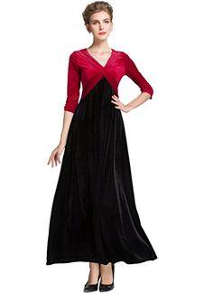 Velvet Warm Dress XXL 3XL Dresses Plus size Winter Ankle Length Maxi