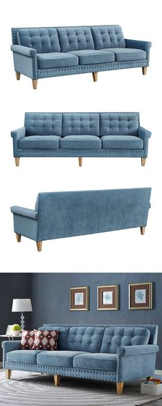 Splashes of glorious color: it's totally in, so let go of your hesitations and embrace the Kinsley Sofa. Focusing a room design around a fetching…