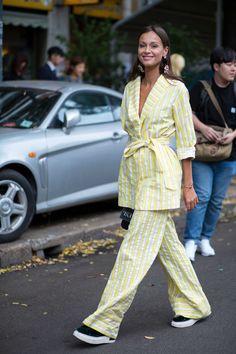 On the street at SS17 Milan Fashion Week. Photo: Chiara Marina Grioni/Fashionista. September 2016