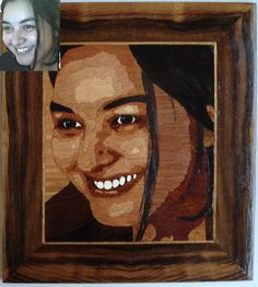 Luciana - Marquetry [wood work - Portrait]