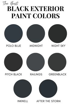Check out these amazing black paint colors yo use on your home's exterior.