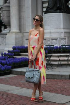 Pleated Dress (and the Laney Quarter Strap Heels) | Styled Snapshots