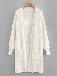 To find out about the Drop Shoulder Cable Knit Cardigan at SHEIN, part of our latest Sweaters ready to shop online today! Cable Knit Cardigan, Cardigan Pattern, Sweater Cardigan, Fashion News, Fashion Outfits, Cardigan Outfits, Crochet Blouse, Outfit Grid, Fashion Clothes