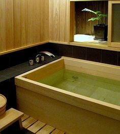 Modern Vacation Home Rentals for Design Lovers. Very small hotels, simple luxury villas, cabins, beach house rental and holiday lettings. Architecture Bathroom, Wooden Bathroom, Home, Bathroom Styling, Bathroom Inspiration, Bath, Vacation Home Rentals, Japanese Style Bathroom, Bathroom Design