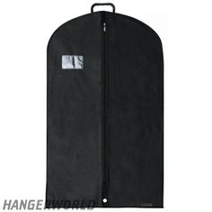Black Breathable Suit Carrier with Handle - 40 Inches