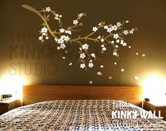 Love this for bedroom decor!    Vinyl Wall Decal Wall Sticker tree decal  Cherry by KinkyWall, $58.00