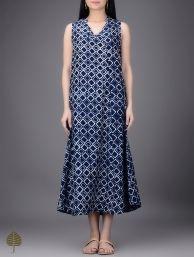 Buy Rust Ajrakh Printed Cotton Dress Women Dresses Serenades Natural dyed block kurtas and jackets Online at Jaypore.com