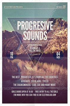 Progresive Sounds Flyer Template - http://www.ffflyer.com/progresive-sounds-flyer-template/ Progresive Sounds Flyer Template #Edm, #Electro, #House, #Lounge, #Party, #Progressive, #Summer, #Trance, #Typo
