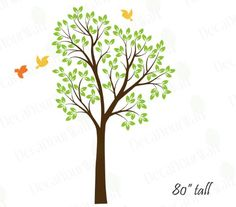 80 Large Tree Wall Decal for Nursery Baby Girls Boys Kids Room BrownLime tree green -- Click on the image for additional details.Note:It is affiliate link to Amazon.