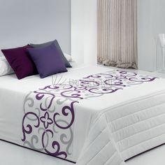 Seven Piece Duvet Cover Set Bed Cover Design, Designer Bed Sheets, Embroidered Bedding, Purple Bedrooms, Fashion Room, Diy Bedroom Decor, Home Decor, Bed Covers, Soft Furnishings