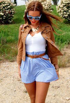 adorable skirt and jacket combo