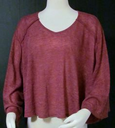 NEW Womens Ladies YA Magenta Cape Style Top Layer Sweater Top L So Unique!! #YA #CAPESHAPETOPLAYERSWEATER #VERSATILE
