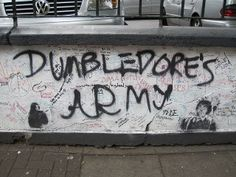 Dumbledore's Army graffiti