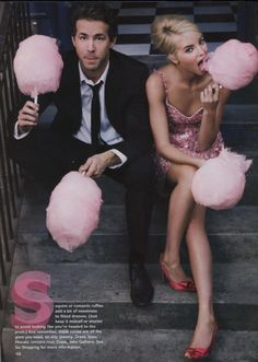 This would be a hilarious engagement photo haha, but loving this idea for pregnancy photos with blue cotton candy