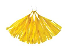 Yellow Tissue Paper Tassels, 4 p/listing