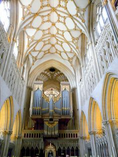 Wells cathedral, the cathedral church of St.notice the beautiful Pipe Organ! by zelma Religious Architecture, Gothic Architecture, Beautiful Architecture, Beautiful Buildings, Architecture Details, Anglican Church, Church Interior, Cathedral Church, Church Building