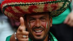 mexican fan during soccer match
