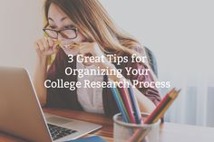 """We interviewed a high school grad about organizing college applications. Day 5 of """"Getting Smart with College Applications"""" is 3 Tips for Organizing Your College Research Process High School Hacks, School Tips, College Organization, Organizing, College Application, Research, Students, Education, Learning"""