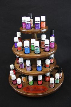 Walnut Display Rack for Essential Oils with by RonKippersWoodShop, $249.00 Purple Heart Wood, Woodwork, Aromatherapy, Essential Oils, Essentials, Display, Health, Etsy, Woodworking
