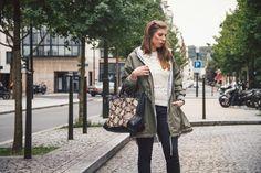 Parka Paul & Joe Sister, Pull Urban Outfiters, Sac Zara ©Le Blog de Morrissey Wilde