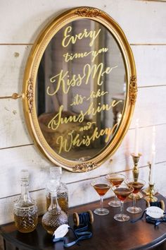 Sunshine and Whiskey Bar Sign | Lauren and Delwyn Project | 12 Personal and Unique Wedding Signs!