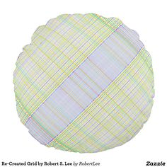 Re-Created Grid by Robert S. Lee Round Pillow #Robert #S. #Lee #pillow #art #artist #graphic #design #colors #kids #children #girls #boys #style #throw #cover #for #her #him #gift #want #need #abstract #home #office #den #family #room #bedroom #living #customizable