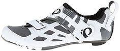 Pearl Izumi Men's Tri Fly V Carbon W/B Cycling Shoe, White/Black, 39 EU/6.1 C US
