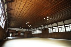 Really nice dojo.  Very large with high ceiling.