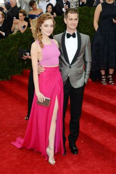 Emma Stone and her Spiderman at the 2014 Met Ball
