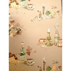 Antique kitchen wallpaper (price per metre)