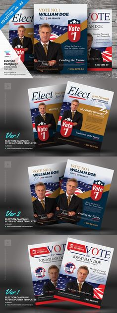 Election Campaign Flyers and Posters