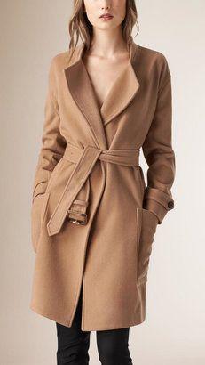Camel Wool Coat - ShopStyle