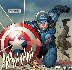 Captain America in Ultimate Comics Ultimates- Billy Tan