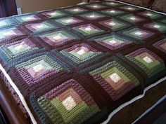 Ravelry: Autumn Log Cabin Throw pattern by Red Heart Design Team