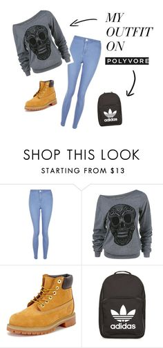 """perfect outfit"" by faithwhite-1 on Polyvore featuring New Look, Timberland and adidas"