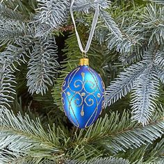 Buy John Lewis Winter Palace Egg Bauble, Royal Blue from our Baubles & Tree Decorations range at John Lewis & Partners. Winter Christmas, Christmas Bulbs, Christmas Ideas, Xmas, Tree Decorations, Christmas Decorations, Holiday Decor, Antique Christmas Ornaments, Blue Eggs