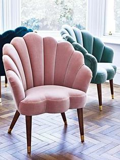Declutter And Style And Design For Put Up-Spring Crack Homeschool Good Results Flora Scalloped Dusty Pink Velvet Armchair - Sofa Design, Furniture Design, Interior Design, Bedroom Furniture, Bedroom Decor, Pink Furniture, Bedroom Armchair, Velvet Furniture, Plywood Furniture