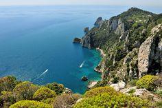 Capri from the Villa Jovis gardens by Angelo Ferraris, via 500px