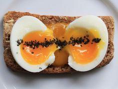 Soft boiled egg with palm island black salt on McCambridge Irish Soda Bread Soft Boiled Eggs, Soda Bread, Irish, Palm, Brunch, Island, Breakfast, Black, Food