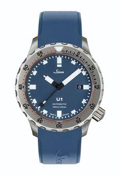 e847c5cb6d0 Die beliebte Taucheruhr U1 von Sinn Spezialuhren gibt es neu mit einem  blauen Zifferblatt.