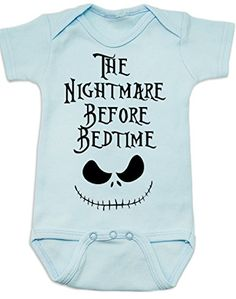 Vulgar Baby Nightmare Before Bedtime Onesie, 0-3 MO, Blue