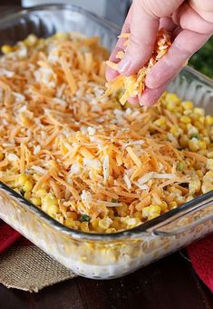 Add some spice to dinner with Cheesy Fiesta Corn Casserole ! Ready for the oven in just 10 minutes, this easy creamy corn goo. Vegetable Casserole, Corn Casserole, Easy Casserole Recipes, Casserole Dishes, Corn Recipes, Side Dish Recipes, Mexican Food Recipes, Recipies, Homemade Lasagna