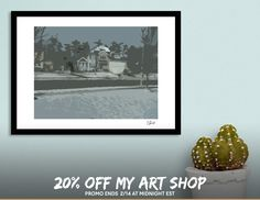 Discover «Snowy Neighborhood», Exclusive Edition Fine Art Print by Casey Bell - From $25 - Curioos